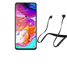 SAMSUNG Galaxy A70 LTE 128GB Dual SIM Mobile Phone with Jabra Elite 25e Wireless Headphone
